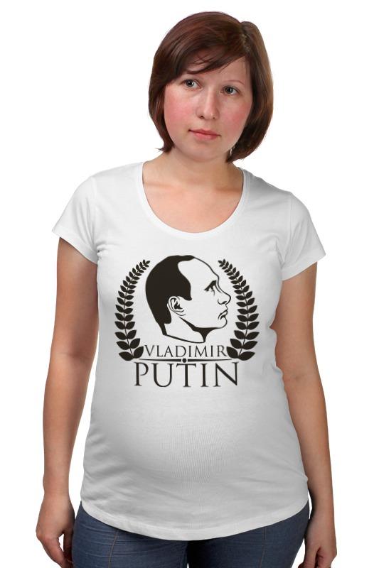 где купить  Футболка для беременных Printio Vladimir putin  по лучшей цене