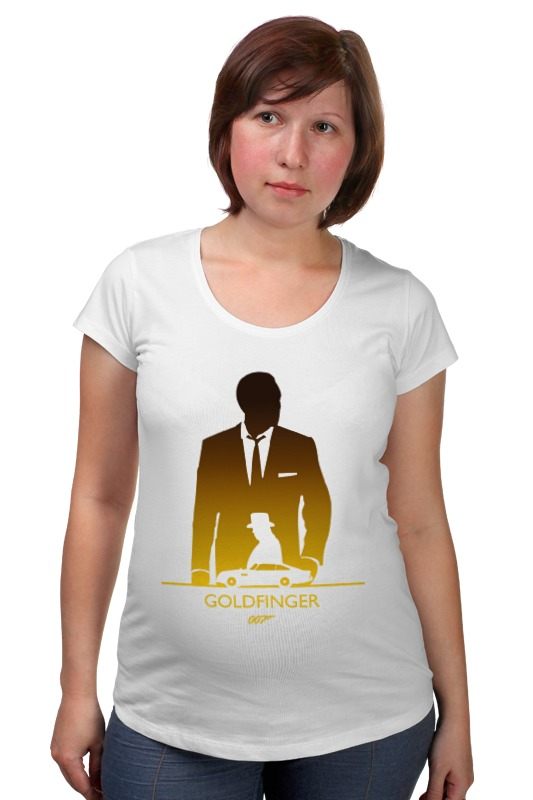 Футболка для беременных Printio 007: голдфингер футболка для беременных printio property of a lady 007
