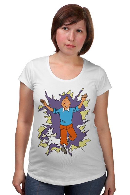 Футболка для беременных Printio Приключения тинтина футболка tintin heart