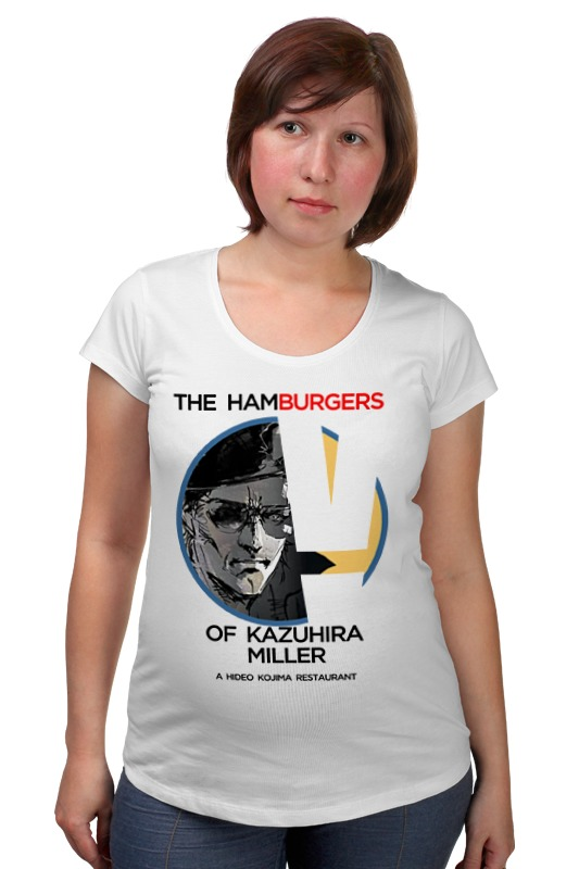 Футболка для беременных Printio The hamburgers of kazuhira miller футболка для беременных printio elements of harmony