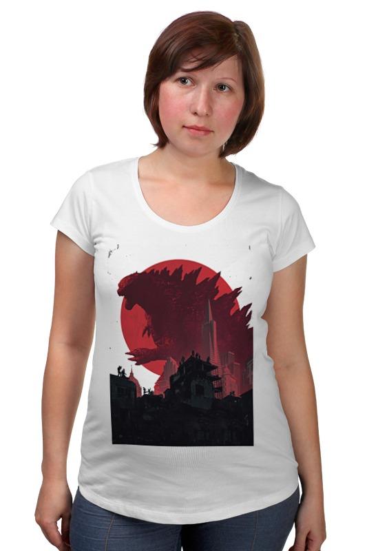 Футболка для беременных Printio Godzilla white футболка для беременных printio age of triumph white