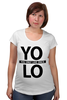 """Футболка для беременных """"YOLO (You Only Live Once)"""" - yolo, you only live once, йоло, живешь только раз"""