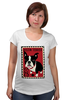"Футболка для беременных ""Boston Terrier"" - любовь, терьер, boston terrier, бостон терьер"