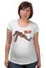"Футболка для беременных ""AK-47"" - ак-47, калашников, weapon, ak47, автомат калашникова"