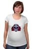 """Футболка для беременных """"Мексиканский череп"""" - череп, цветы, крест, тату, мексика"""