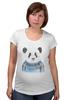 "Футболка для беременных ""Панда"" - панда, panda"