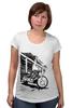 """Футболка для беременных """"Мотоциклы"""" - white, black, motorcycle, bike, harley"""