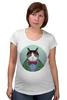 """Футболка для беременных """"Кот в костюме"""" - кот, смешные, прикольные, cat, well dressed animal, suit, кот в одежде, зоопортрет, галстук-бабочка"""