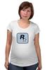 """Футболка для беременных """"Rockstar Light-Blue"""" - женская, grand theft auto, gta, rockstar, гта, rockstar games, video games, майки из игр"""