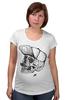 """Футболка для беременных """"DEAD HIPSTER"""" - череп, крест, рисунок, face, хипстер"""