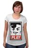 """Футболка для беременных """"Lego Play (Obey)"""" - gamer, lego, игрок, лего, играй"""