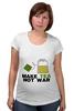 "Футболка для беременных ""Make Tea Not War"" - fun, social"