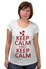 """Футболка для беременных """"Keep calm"""" - карлсон, спокойствие, keep calm, пропеллер, советские мультфильмы"""