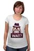 """Футболка для беременных """"WAT?              """" - вопрос, шляпа"""