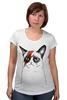 """Футболка для беременных """"Кот пессимист"""" - арт, cat, котэ, grumpy"""