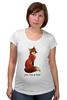 """Футболка для беременных """"Лисичка"""" - fox, лиса, лисичка, i am a fox"""