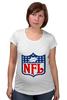 "Футболка для беременных ""NFL"" - авторские майки, американский футбол, american football, нфл"