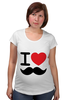 "Футболка для беременных ""I love усы"" - swag, усы, mustache, лов, i love mustache"