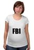 """Футболка для беременных """"FBI фбр"""""""