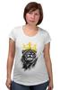 """Футболка для беременных """"Лев в короне"""" - king, корона, лев, царь зверей, crown"""