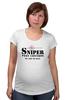 "Футболка для беременных ""Sniper"" - sniper, снайпер, убийца, киллер, headshot"