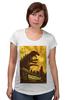 """Футболка для беременных """"Godzilla yellow"""" - фильмы, динозавр, годзилла, godzilla, фатастика"""