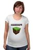 "Футболка для беременных ""Minecraft - Куб"" - minecraft, майнкрафт"
