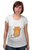 """Футболка для беременных """"Рыжий кот"""" - кот, cat, рыжий кот, смешной кот"""