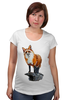 """Футболка для беременных """"Лисица"""" - животные, red, рисунок, fox, лиса, рыжая"""