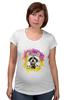 """Футболка для беременных """"Радужный енот"""" - арт, радуга, rainbow, иллюстрация, енот, racoon"""