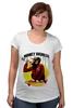 """Футболка для беременных """"Monkey (Обезьяна)"""" - скейтборд, обезьяна, monkey, skateboard"""