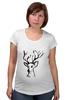 """Футболка для беременных """"dear deer"""" - графика, олень, deer, tseart"""