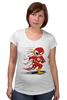 "Футболка для беременных ""Flash Dead"" - skull, череп, скелет, flash, флэш"