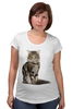 "Футболка для беременных ""Милый пушистый кот     "" - кот, кошка, котэ, алина макарова, мэйн кун"