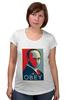"""Футболка для беременных """"Путин (Obey)"""" - путин, президент, putin, повинуйся"""