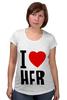 "Футболка для беременных ""I LOVE HER"" - сердце, любовь, heart, i love"