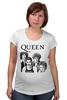 "Футболка для беременных ""Queen group"" - queen, фредди меркьюри, freddie mercury, куин, rock music"