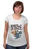 """Футболка для беременных """"Мышь и пицца. Парные футболки."""" - парные, ко дню влюбленных, мышь и пицца, всегда вместе, надписи для двоих"""
