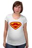 "Футболка для беременных ""Супермен-усач-бородач"" - супермен, superman, борода, усы, бородач"