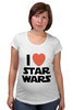"Футболка для беременных ""I love Star Wars"" - фантастика, star wars, культовый фильм, звёздные войны"
