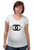 "Футболка для беременных ""Chanel"" - духи, бренд, fashion, коко шанель, brand, coco chanel, шанель, perfume, karl lagerfeld, карл лагерфельд"