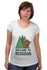 """Футболка для беременных """"Welcome to Russia"""" - bear, медведь, россия, welcome to russia"""