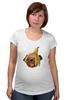"""Футболка для беременных """"Мопс и банановая кожура"""" - pug, пёс, банан, мопс, банановая кожура"""