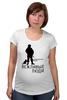 """Футболка для беременных """"Вежливые люди"""" - армия, россия, логотип, ратник, силовые структуры"""