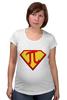 """Футболка для беременных """"Супер Пи (Super Pi)"""" - математика, 14 марта, число пи, день числа пи"""