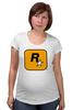 "Футболка для беременных ""Rockstar Games"" - grand theft auto, gta, rockstar, гта, рокстар, rockstar games"