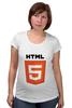 "Футболка для беременных ""HTML 5"" - html, хтмл"