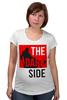 "Футболка для беременных ""Dark Side"" - darth vaider, the dark side, звездные войны, темная сторона, star wars"