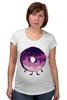 """Футболка для беременных """"Космический Пончик (Space Donut)"""" - пончик, donut, космический пончик, space donut"""