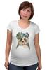 """Футболка для беременных """"Панда в венке"""" - цветы, панда, природа, panda, акварель"""